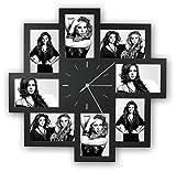Unbekannt Foto-Uhr Trieste schwarz für 8 Fotos 10x15cm, aus Kunststoff, zum Hängen