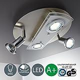 LED Deckenleuchte Schwenkbar Inkl. 4 x 3W Leuchtmittel 230V GU10 IP20 Led Strahler LED Deckenlampe LED Spots Innenleuchte Wohnzimmerlampe Deckenspot
