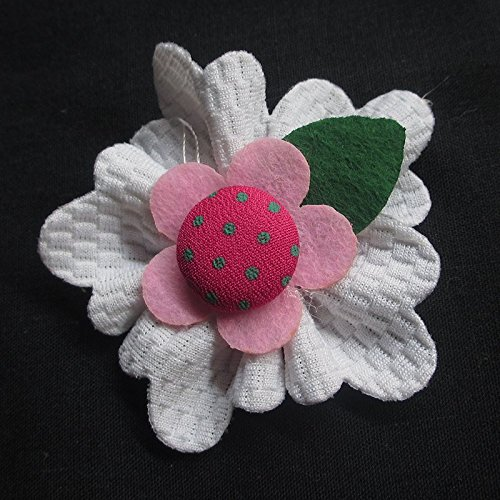 Juqian grande 6cm imbottito feltro fiori nastro Appliques decorazione 15PCS (Imbottito Applique Craft)