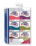 """Staedtler FIMO Soft, Set de 6 pains de pâte à modeler couleur """"terre"""" assortis, Durcissant au four, Extrêmement souple, Pour débutants et artistes, Pains de 57 grammes chacun, 8023 27"""