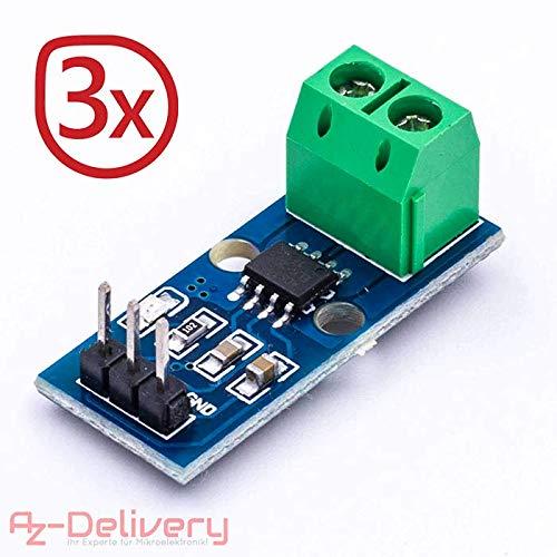 AZDelivery ⭐⭐⭐⭐⭐ 3 x ACS712 Stromsensor 30A Messbereich Range Modul Current Sensor für Arduino Bascom (3X ACS712 30A)