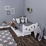 KAGU Chrisi Kinderbett Jugendbett Juniorbett Bett (140x70 cm oder 160x80 cm). Kiefernholz Massivholz inkl. Matratze und Schublade.