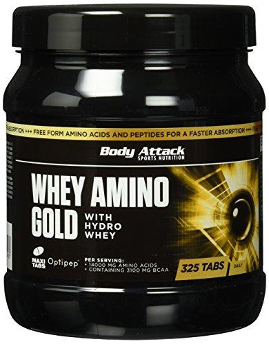 Body Attack Whey Amino Gold 325 Tabletten, 1er Pack (1 x 650g)