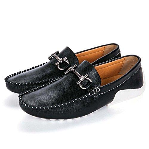 ZXCV Scarpe all'aperto Personalità Piselli Scarpe Scarpe da uomo Set di scarpe Per il tempo libero marea Scarpe da uomo in pelle Nero