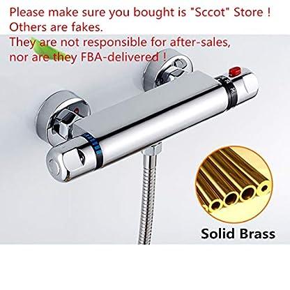 515jhUbmdEL. SS416  - Sccot Grifo termostático de ducha, Válvula de Ducha Termostático griferia termostatica ducha Bar Grifo Mixer Bañera Latón Cromado
