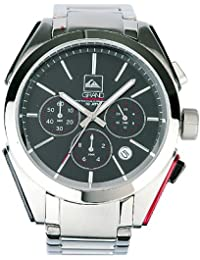 Quiksilver M137CF/ABLK - Reloj de caballero de cuarzo, correa de acero inoxidable color plata