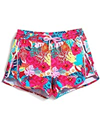 f4aef820689c Lantra Besa Rote Blumen Wasserabweisend Schnelltrocknend Damen Herren  Mädchen Kinder Badehose Badeshorts…