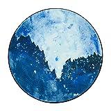 WYYY Runder Teppich Haushalt Multifunktion Landschaftsmalerei 150 * 150 Cm ( Farbe : 1 )