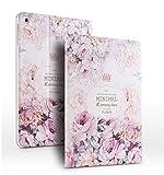 iPad PU Leder Tasche Smart Cover Folio iPad Case Hülle Tasche Schutzhülle Etui für Apple (iPad Air, Rose 3#)