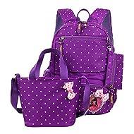 moonwind, Set de Sac scolaire Enfant violet Purple (Polka Dots) 3 Pcs