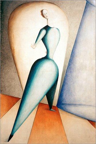 Poster 20 x 30 cm: Die Tänzerin von Oskar Schlemmer/akg-Images - hochwertiger Kunstdruck, neues - Oskar Schlemmer Kostüm