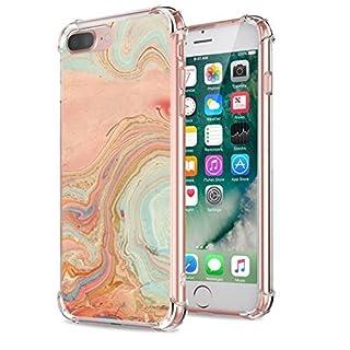 Neivi iPhone7 Plus Case, Reinforced Corners Creative Patterns Ultra Slim Soft TPU Silicone Anti-Scratc Bumper (Orange)