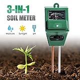 Digital pH Soil Tester,-in PH Feuchtigkeit Sonnenlicht Sensor Sonde Meter PH Bodentest Kits Test Funktion für Haus und Garten, Pflanzen, Bauernhof, Innen-/Außeneinsatz. (-in Boden PH-Messgerät)