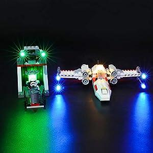 BRIKSMAX Kit di Illuminazione a LED per Lego Star Wars X-Wing Starfighter Trench Run,Compatibile con Il Modello Lego… 0716852282272 LEGO