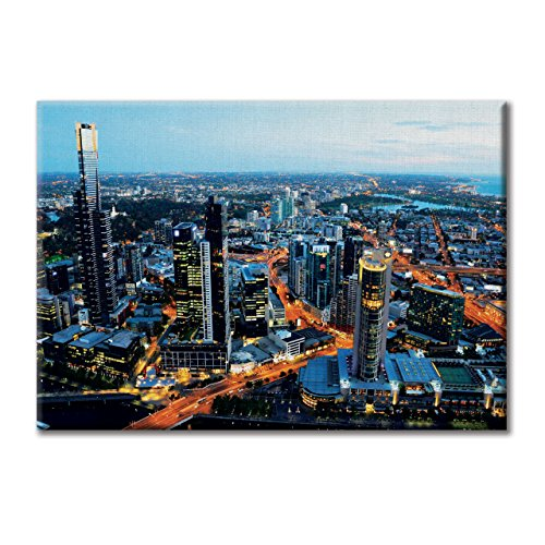 panneau-de-toile-canvas-australie-melbourne-sunset-view-mobel-100x70-cm