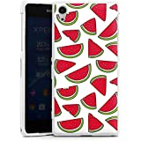 Sony Xperia Z2 Hülle Silikon Case Schutz Cover Melone Sommer Essen