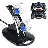 Tiancai Chargeur pour Manette Playstation 4 PS4 / PS4 Slim Pro Console Charging Dock stand,Double USB de Charge Rapide Console...