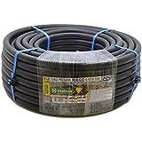 S&M 012426 - Tubería polietileno riego, 25 x 6 atm - 50 m, color negro