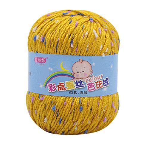 LCLrute 50g Hand Stricken Knicker Garn häkeln weiche Schal Pullover Hut Garn Strickwolle Stricken und Häkeln Babywolle (E)