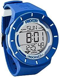 Rockwell Time Coliseo azul de silicona/blanco Dial Unisex Reloj