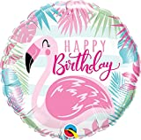 paduTec Heliumballon Ballon Folienballon - Happy Birthday Flamingo - Geburtstag Deko - mit Helium gefüllt