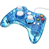 Afterglow Wired LED colour glow Controller - Blue (Xbox 360) for Microsoft UK