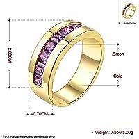 K Goldschmuck Mode Einfache und Elegante Damen Ring , Gold , 7