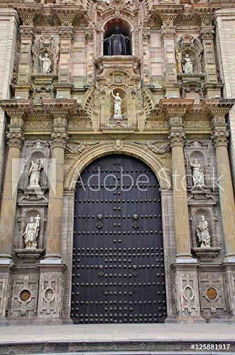 druck-shop24 Wunschmotiv: Main Entrance Portada del Perdon of Lima Cathedral in Peru. #125881917 - Bild als Foto-Poster - 3:2-60 x 40 cm / 40 x 60 cm (Foto Portada De)