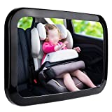Zacro Baby Car Mirror - Large Fully Adjustable Shatter...