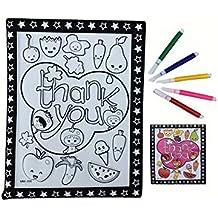 DIY Kids Painting Coloring Palette Tavolo da disegno concavo-convesso con penne [lettera]