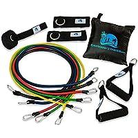 Cayman Fitness - Set elastici fitness Premium con livello di resistenza