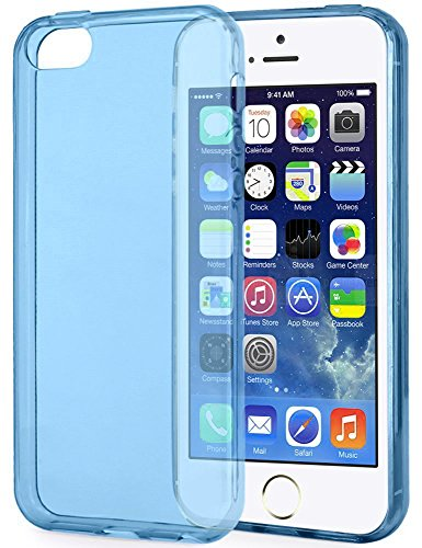 iPhone SE Hülle, Pasonomi® iPhone 5s TPU Case Silikon Crystal Case Schutzhülle für iPhone SE/5s/5 (Rosa) Blau
