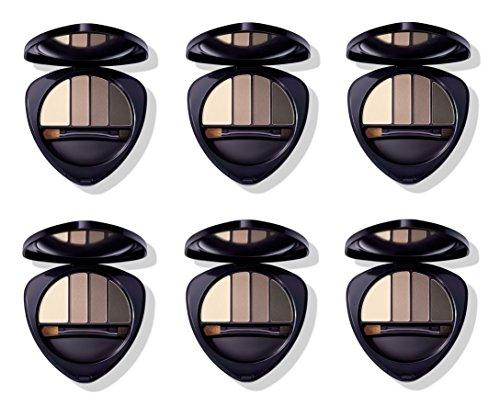 Dr.HAUSCHKA - Eye and Brow Palette 01 Stone 6 boîtes de 4,4 g, Fard à paupières en 100% naturel, tons vellutate et opaques, profondeur et espressività du regard