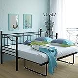 Miadomodo Metall-Tagesbett Bett Gästebett Einzelbett Gästebett Rollbett in der Größe und Farbe Ihrer Wahl mit oder ohne Rollen