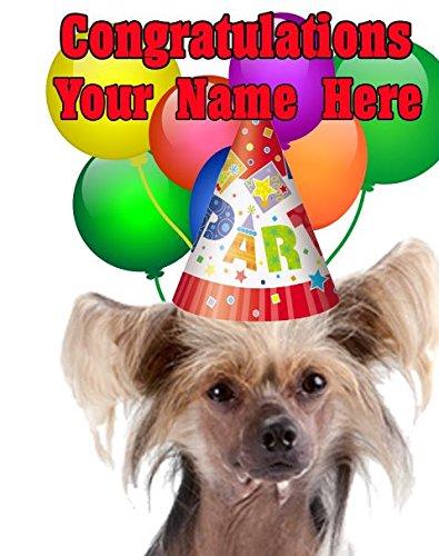 Chinesischer Schopfhund Congratulations Hund Party Karte codecc A5Grußkarte (Chinesische Konsole)
