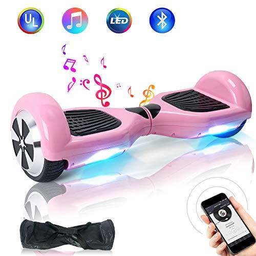 TOEU Hoverboard, 6.5 Zoll Self Balance Scooter mit LED Lights Elektro Scooter E-Skateboard (Pink)