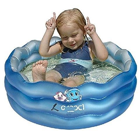 PVC Drei-Ring-Spielzeug aufblasbare Schwimmbecken Planschbecken Kind Karikatur wellige Qualität Kinder