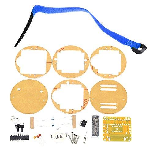 KKmoon SCM Awesome Transparent LED Watch DIY LED Digital Tube Wristwatch Electronic Watch DIY Kit Blue