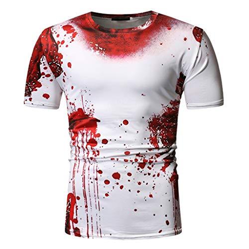 Luckycat Fun-Bekleidung T-Shirts Tops für Herren Persönlichkeit des Schädel-3D Druck-Shirt Blut T Shirt Blusen-Oberteile Basic Streetwear Sweatshirts Sommerblusen Trainingsanzüge