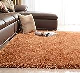 SESO UK-CAR Nordic Modernen Teppich Weichen Bequemen Rutschfeste Große Polyester Teppich für Schlafzimmer Wohnzimmer Haushalt Dekoration Dicke-6 cm (Farbe : Champagner, Größe : 160x230cm)