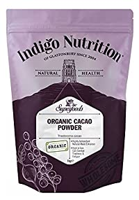 Indigo Herbs 1kg: Organic Peruvian Cacao Powder - 1kg (Certified Organic)