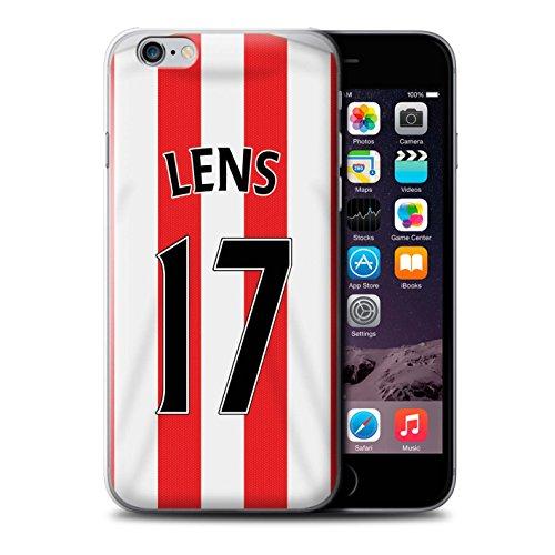Offiziell Sunderland AFC Hülle / Case für Apple iPhone 6+/Plus 5.5 / Van Aanholt Muster / SAFC Trikot Home 15/16 Kollektion Lens