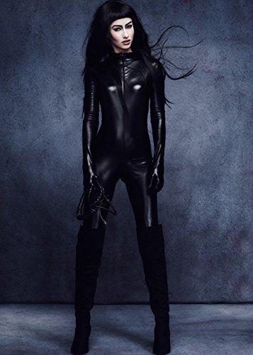 Magic Box Int. Womens Black Catwoman Catsuit Kostüm Large (UK (Catwoman Kostüm Kostüme Uk)