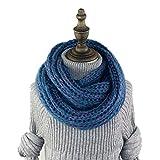 HEJIANGTAO Baby Schal Wolle stricken Frühling und Herbst Winter warme Männer und Frauen Kinder Lätzchen einfarbig Kinderkragen, Haare gemischte Farbe dunkelblau