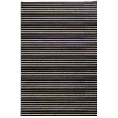 Alfombra de salón Moderna Negra de bambú para Comedor de 200 x 300 cm Factory - LOLAhome