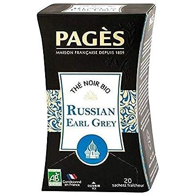 PAGÈS Thé Noir Russian Earl Grey Bio 20 Sachets 36 g parent