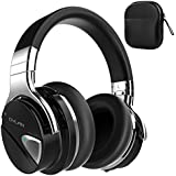 Dylan Active Noise Cancelling Wireless Kopfhörer Bluetooth 4.0 with Mic Hi-Fi Stereo Over-Ear Design Travel Case Included -Black