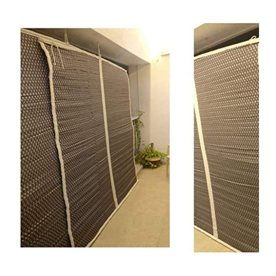 Tclpvc Economy 5/7 feet Bamboo Chick Window Closer - Curtains For Balcony - Windows - Outdoors - Door - Kitchen - Home - Office - Hotel - Resorts - Blinds - Shades - Screens - Patio Umbrellas - Canopies - Shade - Sunscreen Fabric - Screens - Protection -