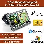 """17,8cm 7"""" Zoll,16GB Speicher, PKW,LKW,Wohnmobil,GPS Navigationsgerät,Navigation, Neuste Karten sowie Radarwarner , Erweiterbarer Speicher, Fahrspurassistent, Geschwindigkeitsanzeige"""