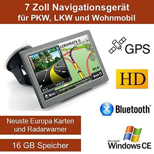 """17,8cm 7\"""" Zoll,16GB Speicher, PKW,LKW,Wohnmobil,GPS Navigationsgerät,Navigation, Neuste Karten sowie Radarwarner , Erweiterbarer Speicher, Fahrspurassistent, Geschwindigkeitsanzeige"""